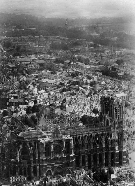 Cathedrale Reims Detruite Cathédrale de Reims Prise