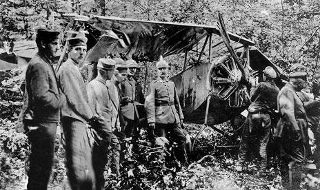 5f50c039cb37 Nieuport 10 n° 1520 de l escadrille N 48 tombé dans la forêt de Blamont, le  9 août 1916 - Les deux membres d équipage qui occupaient cet avion, ...